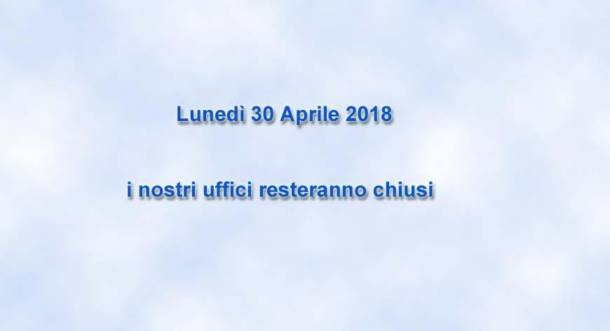 30 Aprile 2018